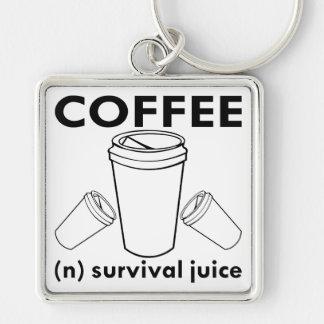 Überlebens-Saft des Kaffee-(N) Schlüsselanhänger