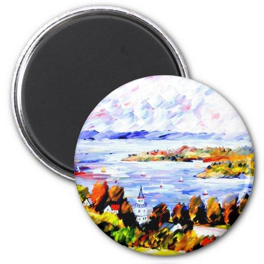 Überlingen( Bodensee ) Runder Magnet 5,1 Cm