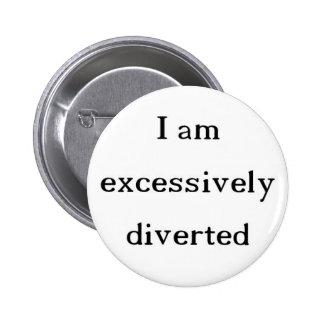 Übermäßig umgeleiteter Knopf Runder Button 5,7 Cm