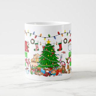 Übermäßiger Entwurf für besessene Weihnachtsleute Jumbo-Tasse