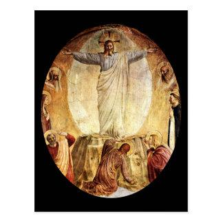 Übernatürlicher Christus gestiegen vom Grab Postkarte