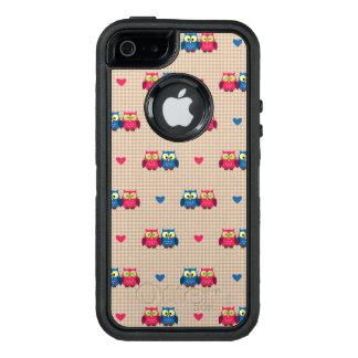 Überprüftes Muster mit Liebeeulen OtterBox iPhone 5/5s/SE Hülle