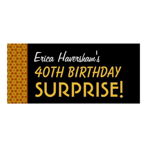 Überraschen Sie 40. Geburtstag oder alle mögliche  Plakatdruck