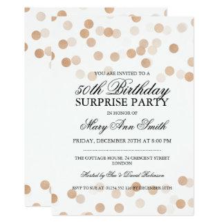 Überraschen Sie 50. Geburtstags-kupferne 12,7 X 17,8 Cm Einladungskarte