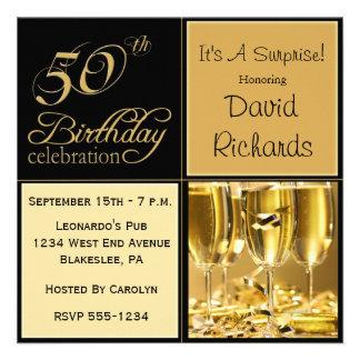 Überraschen Sie 50. Geburtstags-Party Einladungen
