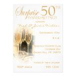 Überraschen Sie 50. Jahrestags-Party Einladungen