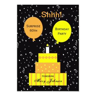 Überraschen Sie 60. Geburtstags-Party Einladung