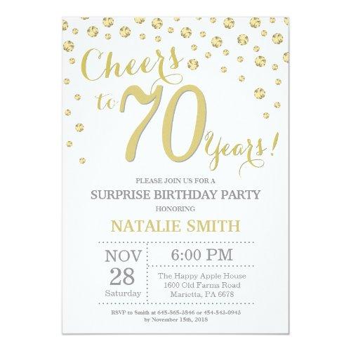 Graue Einladungen Zum Siebzigsten Geburtstag Online
