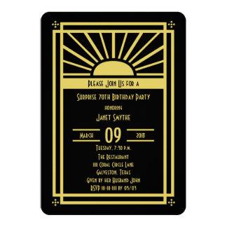 Überraschen Sie 70. Geburtstags-Party 12,7 X 17,8 Cm Einladungskarte