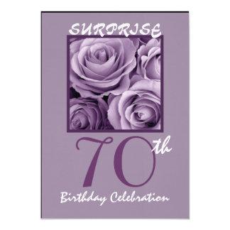 ÜBERRASCHEN Sie 70. Geburtstags-Party einladen Karte