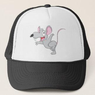 Überraschte Ratten-Maus springen Truckerkappe