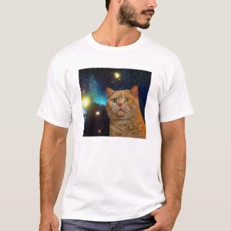 Überraschte Raum-Miezekatze T-Shirt