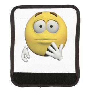 Überraschter Emoticon Gepäckgriff Marker