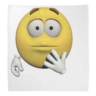 Überraschter Emoticon Kopftuch