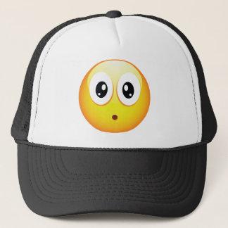 Überraschter Emoticon Truckerkappe