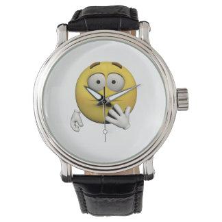 Überraschter Emoticon Uhr