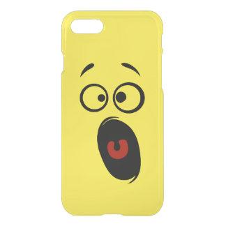 Überraschter erschrockener schreiender gelber iPhone 8/7 hülle