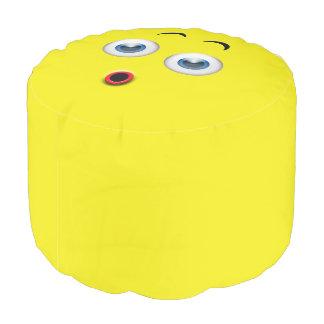 Überraschtes Emoji Runder Sitzpuff