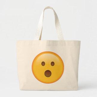 Überraschtes Gesicht - Emoji Jumbo Stoffbeutel
