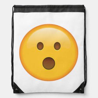 Überraschtes Gesicht - Emoji Turnbeutel