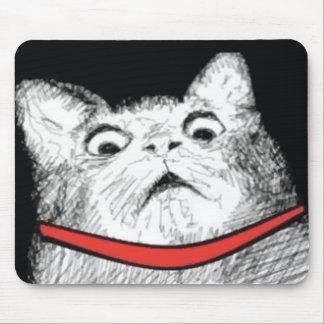 Überraschtes Katzen-Keuchen Meme - Mousepad