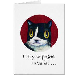 ÜBERRASCHUNG der Geburtstag der Katze! Karte