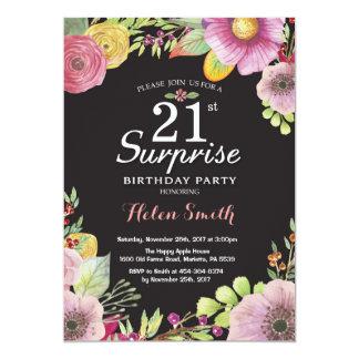 Überraschungs-Blumen21. Geburtstags-Einladung für Karte