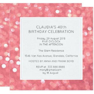 Überraschungs-Geburtstags-Party Bokeh Karte