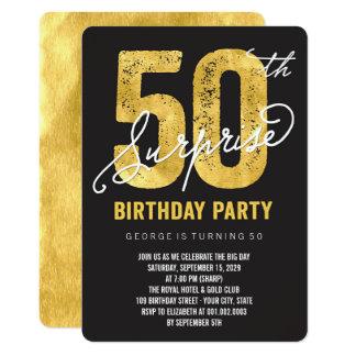 Überraschungs-Geburtstags-Party der Goldfolien-50. Karte