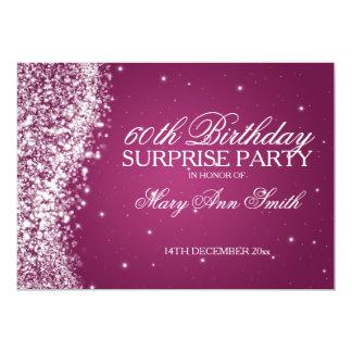 Überraschungs-Geburtstags-Party-funkelndes 12,7 X 17,8 Cm Einladungskarte