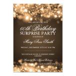 Überraschungs-Geburtstags-Party-Goldfunkelnde Personalisierte Einladungskarte
