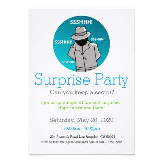 Überraschungs-Party Einladungs-Geheimnis-Agent Karte