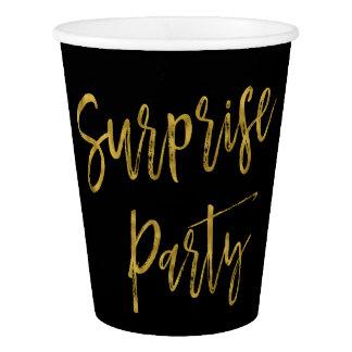 Überraschungs-Party-Goldfolien-Papierschale Pappbecher