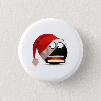 Überraschungsweihnachtsgesicht Runder Button 3,2 Cm