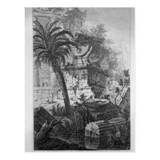 Überreste der alten Gebäude einschließlich die Postkarten