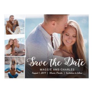 Überschnittene Fotos, die Save the Date Postkarte