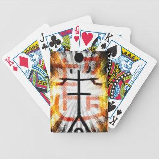 Überschreiten Sie Spielkarten
