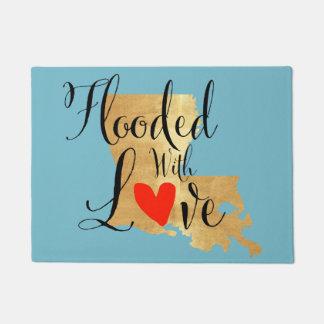 Überschwemmt mit Liebe-Fußmatte Türmatte