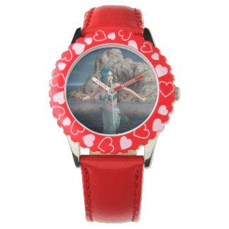 Überseeische Meerjungfrau Uhr
