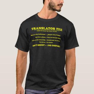 Übersetzer-T-Stück Englisch-Spanisch T-Shirt