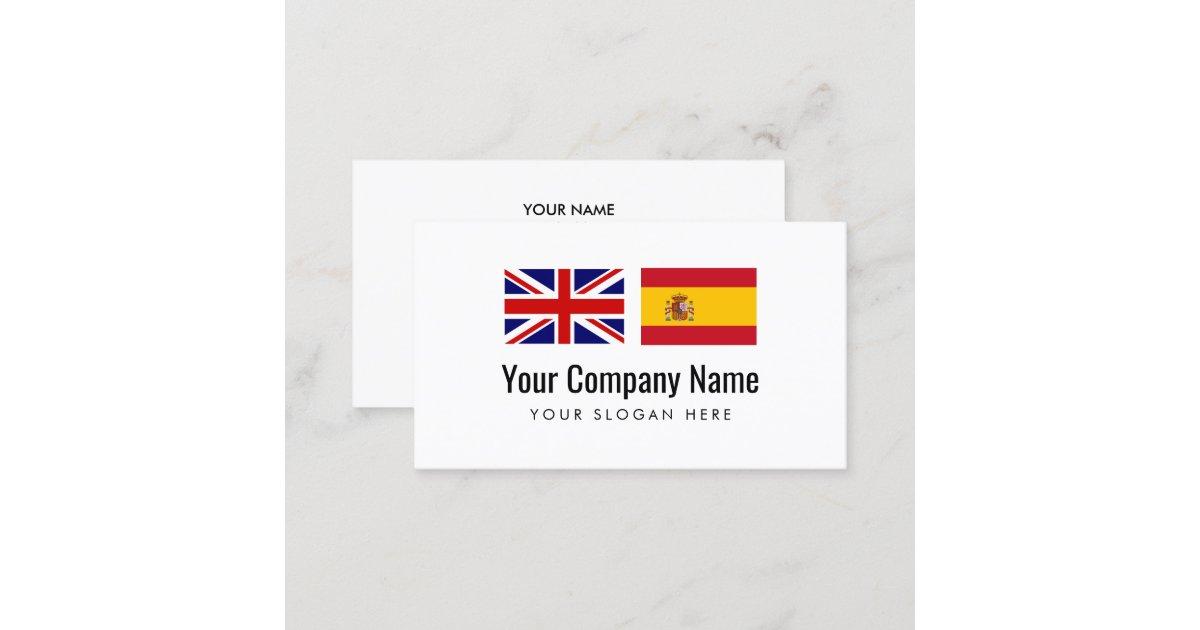 übersetzungsdienste Englisch Spanischübersetzer Visitenkarte