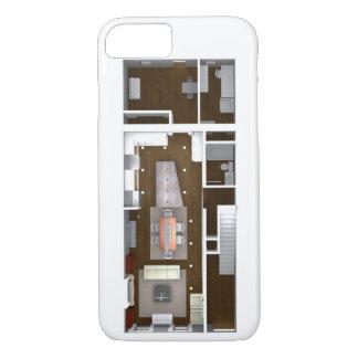 Übertragener ArchitekturGrundriss iPhone 8/7 Hülle