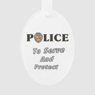 Überwachen Sie Aufschlag polizeilich und schützen Ornament