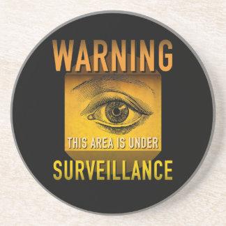 Überwachungs-warnender Getränkeuntersetzer