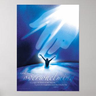 ÜBERWÄLTIGENDE LIEBE - christliche religiöse Poster