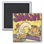 Überwältigende Uhr Garfields, Magnet Kühlschrankmagnete