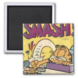 Überwältigende Uhr Garfields Magnet Kühlschrankmagnete