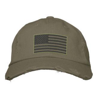 Überwundener gestickter Hut Farbe-US Flagge