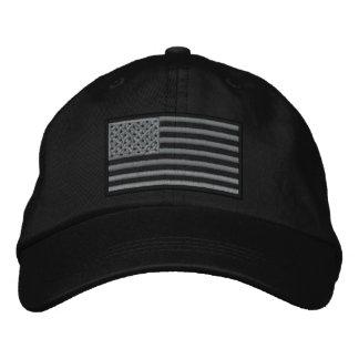 Überwundener US-Flagge gestickter Hut (Schwarzes) Bestickte Mütze