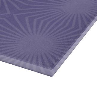 Überwundenes lila Sternexplosion-Muster Schneidebrett
